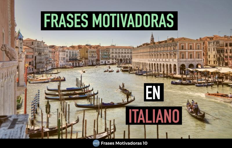Frases motivadoras en Italiano
